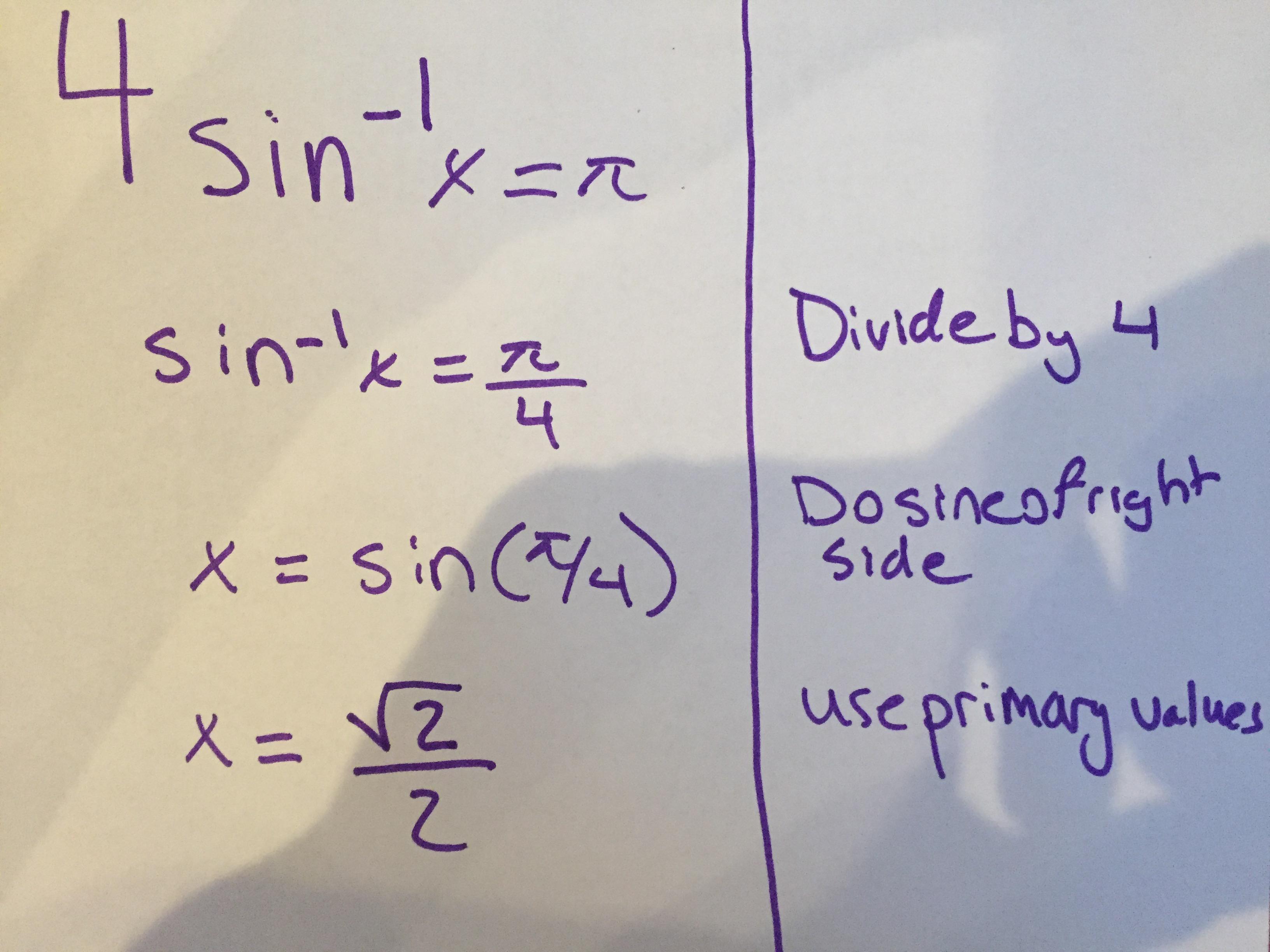 How to solve trigonometric equations