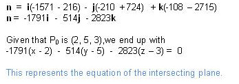 how to find if two vectors intersect
