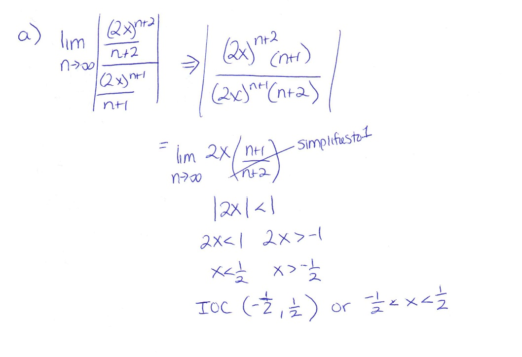 cochranmath / Ratio test applications with Taylor series and